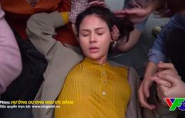 Hướng dương ngược nắng: Lương Thu Trang từng ngã đập đầu, xe cứu thương đạo cụ thành xe đưa đi cấp cứu
