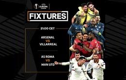 Bán kết lượt về UEFA Europa League: Man Utd ung dung, Arsenal quyết ngược dòng
