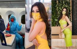 Hoa hậu Khánh Vân mang nguyên BST khẩu trang đến Miss Universe