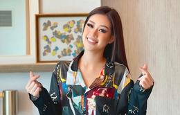 Khánh Vân diện pyjama in hình các đại diện Việt Nam thi Miss Universe