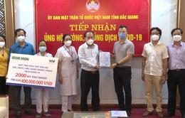 Trao tặng 2.000 kit xét nghiệm nhanh COVID-19 cho tỉnh Bắc Giang và Bắc Ninh