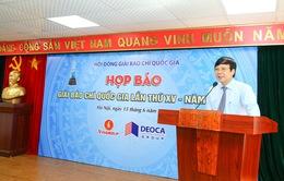 Lễ trao Giải Báo chí Quốc gia XV diễn ra dịp Đại hội XI Hội Nhà báo Việt Nam