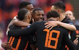"""ĐT Bắc Macedonia 0-3 ĐT Hà Lan: """"Cơn lốc màu da cam"""" toàn thắng vòng bảng   Bảng C EURO 2020"""