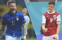 Italia vs Áo: Những con số thống kê nghiêng về Italia | 2h00 ngày 27/6 trực tiếp trên VTV3, VTV9
