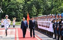 [ẢNH] Lễ đón Tổng Bí thư, Chủ tịch nước Lào Thongloun Sisoulith thăm hữu nghị chính thức Việt Nam