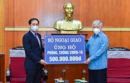 Bộ Ngoại giao trao 500 triệu đồng ủng hộ công tác phòng chống COVID-19