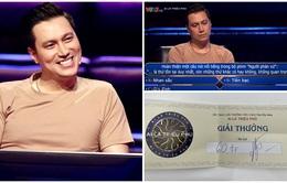 Việt Anh giành 60 triệu đồng ở Ai là triệu phú, xúc động trả lời câu hỏi về NSND Hoàng Dũng
