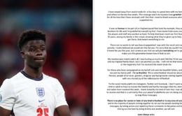 Bukayo Saka viết tâm thư xúc động gửi CĐV ĐT Anh