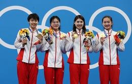 ĐT bơi nữ Trung Quốc phá sâu kỷ lục thế giới nội dung 4x200m bơi tiếp sức tự do