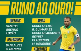 ĐT Brazil công bố danh sách dự Olympic Tokyo: Dani Alves góp mặt, Arsenal đóng góp 2 ngôi sao