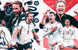 Bán kết UEFA EURO 2020: ĐT Anh - ĐT Đan Mạch | 02h00 ngày 08/7 trên VTV3, VTV9 và VTVGo