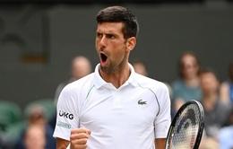 Novak Djokovic thẳng tiến vào bán kết Wimbledon 2021