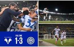 Ngược dòng thắng trên sân khách, Inter Milan vươn lên dẫn đầu Serie A