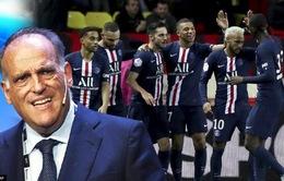 Mâu thuẫn giữa Paris Saint Germain & Chủ tịch giải VĐQG Tây Ban Nha