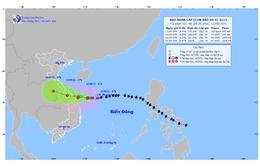 Bão số 5 gây gió mạnh cấp 7, giật cấp 10 tại trạm đảo Lý Sơn