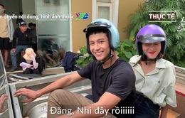 Hậu trường không ngờ ở cảnh Thanh Sơn đèo Khả Ngân đi xe máy