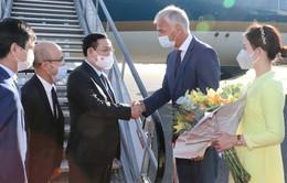 Chủ tịch Quốc hội đến Brussels, bắt đầu chuyến thăm, làm việc với EP và Vương quốc Bỉ