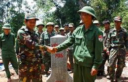 Khánh thành cột mốc 705 trên biên giới Việt Nam - Lào