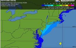 Mỹ: Bão Sandy ảnh hưởng diện rộng
