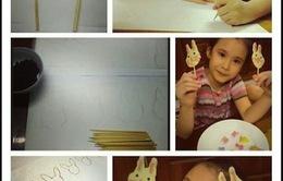 Cùng bé làm kẹo mút hình thỏ ngộ nghĩnh