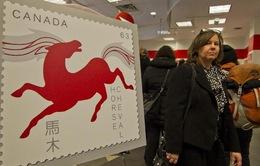 Canada phát hành bộ tem hình con ngựa đón năm mới