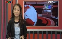 Bản tin 360 độ thể thao ngày 3/4/2014