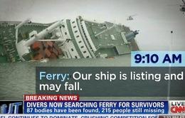 Chìm phà Hàn Quốc: Thợ lặn sợ hãi đối diện với các gia đình có thân nhân mất tích