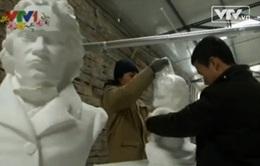 Độc đáo nghệ thuật điêu khắc bằng giấy