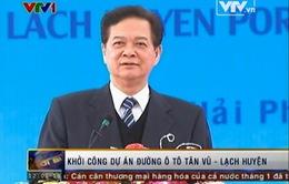 Thủ tướng dự Lễ Khởi công Dự án Đường ô tô Tân Vũ - Lạch Huyện