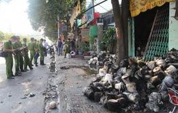 Cháy xưởng dệt ở TP HCM, 1 người tử vong