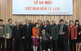 Ra mắt quỹ nhà văn Lê Lựu
