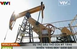 """Dự trữ dầu thô của Mỹ tăng khiến """"vàng đen"""" giảm giá"""