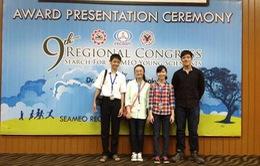 Gặp gỡ nhóm học sinh VN đạt giải Nhì Tài năng khoa học trẻ ASEAN