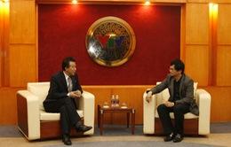 Tổng Giám đốc tiếp xã giao Đại sứ CHDCND Triều Tiên