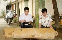 Phát hiện khẩu thần công thời Minh Mạng trên bờ sông Hồng