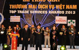 """15 doanh nhân, 90 DN nhận giải """"Thương mại dịch vụ Việt Nam 2013"""""""