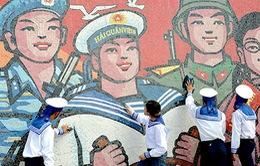 Khánh thành tranh cổ động ghép gốm tại Trường Sa