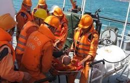 Cứu một thuyền viên người Nga gặp nạn trên biển