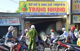 """TP HCM: Cháy tiệm massage, 4 nhân viên """"đu dây"""" thoát nạn"""