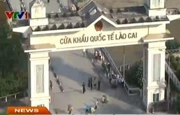 Cửa khẩu quốc tế Lào Cai vẫn hoạt động bình thường