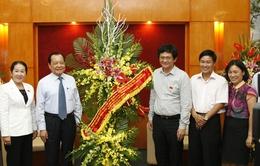 Đồng chí Lê Thanh Hải thăm và chúc mừng VTV nhân ngày Báo chí Cách mạng Việt Nam