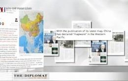 Báo chí quốc tế vạch trần mưu đồ của Trung Quốc qua tấm bản đồ khổ dọc