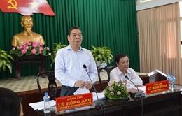 Đồng chí Lê Hồng Anh làm việc tại tỉnh Đồng Tháp