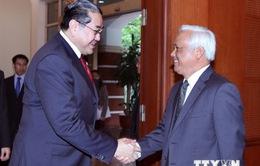 Phó Chủ tịch Quốc hội tiếp Chủ tịch Hội đồng Hòa bình châu Á