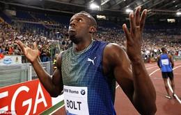 """""""Tia chớp"""" Usain Bolt thất bại bẽ bàng trên đường chạy 100m"""