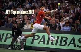 """Tennis 2013 và những pha bóng """"khủng"""" nhất năm"""