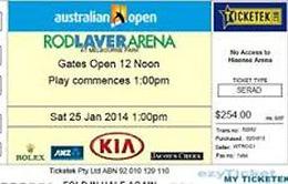 """Australian Open 2014: Vé chung kết đơn nam được rao bán trên mạng với giá """"cắt cổ"""""""