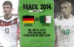 World Cup 2014: Đức vs Algeria - Cuộc chiến của những... chiếc dạ dày