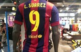 Luis Suarez  mang áo số 9 tại Barcelona?