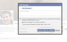 Hơn 2 triệu đồng cho tin nhắn gửi tới ông chủ Facebook